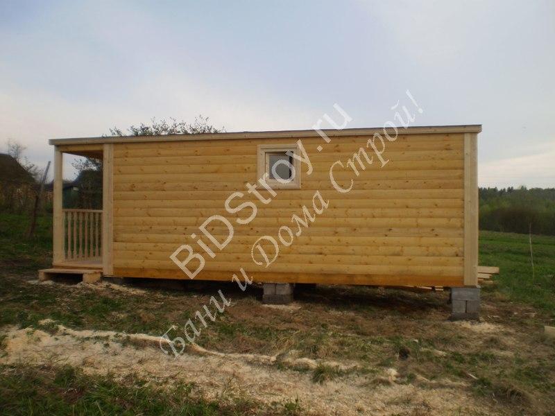 Строительство перевозной бани 2,3 на 7 с крыльцом