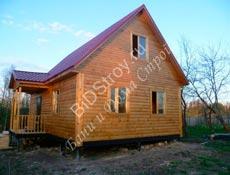 Дом из бруса №10 6 на 9 с крыльцом