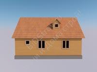 Дом из бруса 7 на 9,5 с крыльцом и верандой
