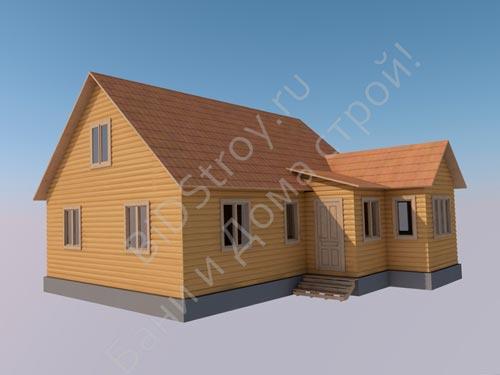 Большой дом из бруса под ключ для постоянного проживания