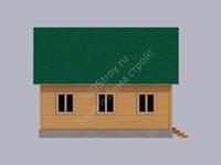 Дом из бруса 8x8