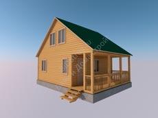 Дом из бруса 6x8