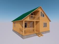 Проект дома из бруса 8 на 8