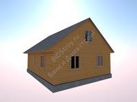 Проект дома из бруса 7,5 на 10