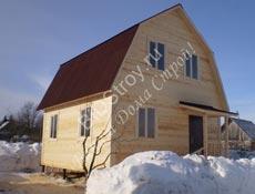 Дом из бруса №5 6 на 6 с крыльцомй