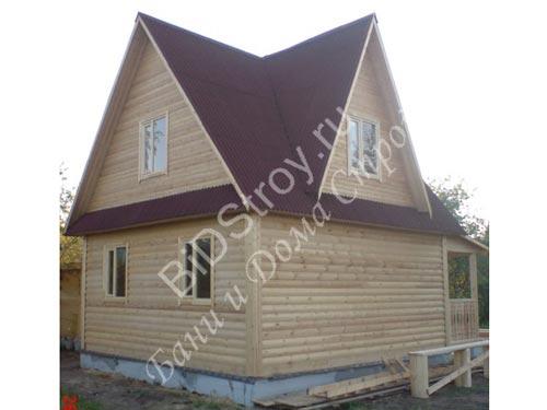Дом из бруса 6 на 7,5 с крыльцом
