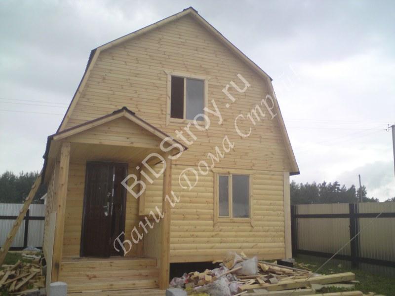 Дом из бруса 6 на 6 с крыльцом