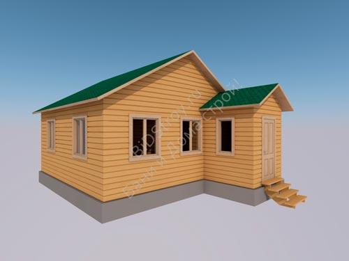 Одноэтажный каркасный дом 6 на 6