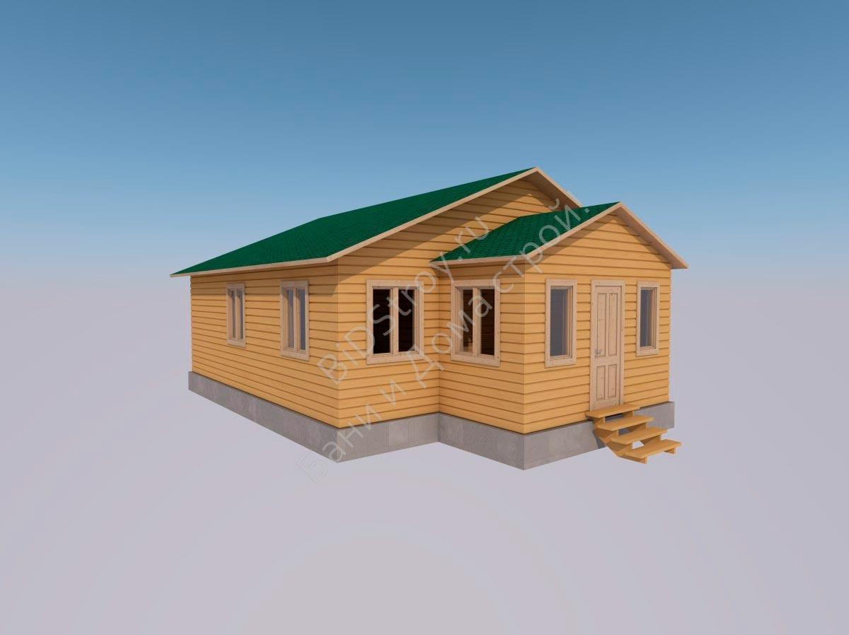 Каркасно-щитовой дом № 16