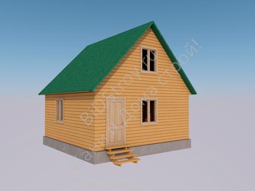 Строительство недорогого каркасного дома