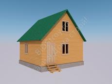 Каркасно-щитовой дом 6 на 6