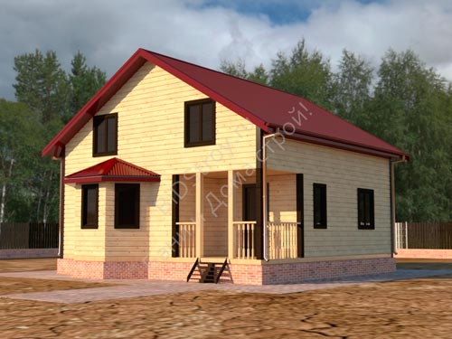 Строительство щитового дома с эркером