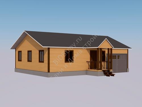 Каркасный дом с гаражом