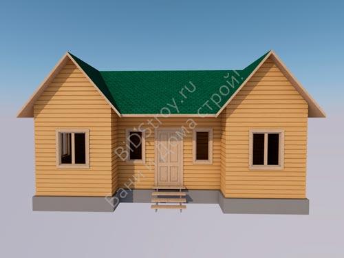 Дом каркасно-щитовой 6х9