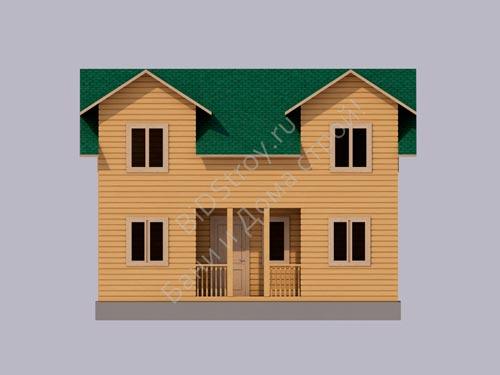 Проект каркасного дома 6 на 8