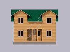 Каркасный дом 6 на 8