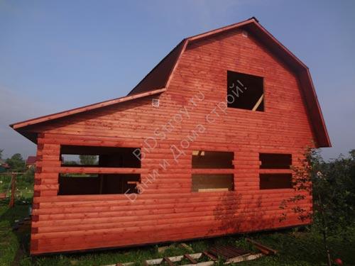 Дом из профбруса под усадку
