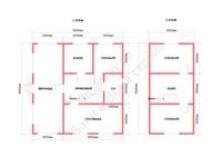 Планировка сруба дома из профбруса под усадку 9x9