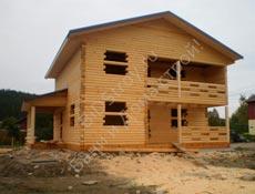 Cтроительство дома под усадку в Карелии