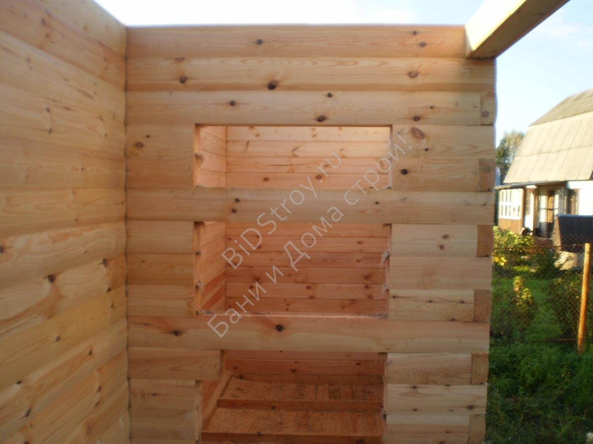 Фото строительства сруба дома из бруса