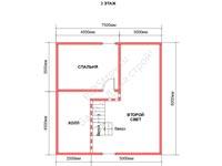 Планировка бани из бруса 10 на 15 со вторым светом 2 этаж