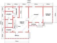 Планировка бани из бруса 10 на 15 со вторым светом 1 этаж