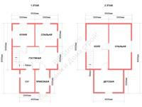 Проект щитового дома 6 на 9