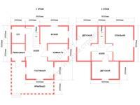 Проект щитового дома 7,5 на 8