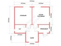 Проект щитового дома 6 на 8