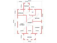 Проект щитового дома 8 на 8
