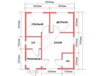Проект щитового дома 6 на 7