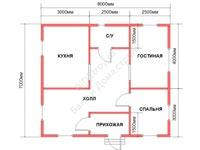 Проект щитового дома 7 на 8