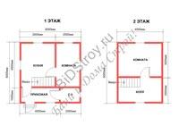 Проект недорогого каркасного дома для круглогодичного проживания
