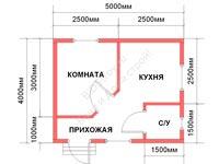 Проект щитового дома 4 на 5
