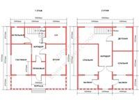 Проект щитового дома 8 на 9