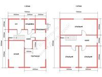 Проект щитового дома 7 на 9
