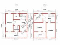 Проект полутораэтажного каркасного дома
