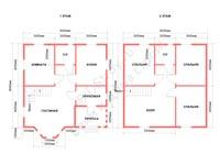 Планировка каркасного дома с эркером, 8 на 8