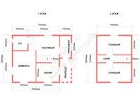 Проект каркасно-щитового недорого дома под ключ