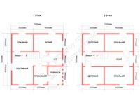 Проект каркасного дома 7 на 7