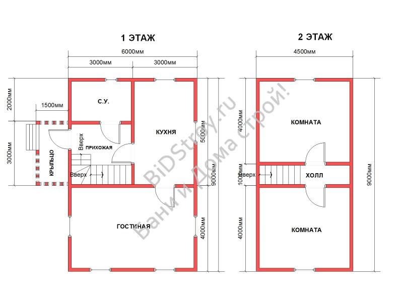 Планировка дома из бруса в Спб