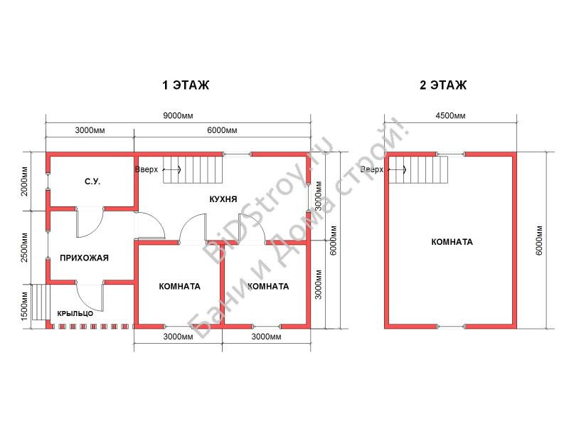 Планировка дома из профилированного бруса