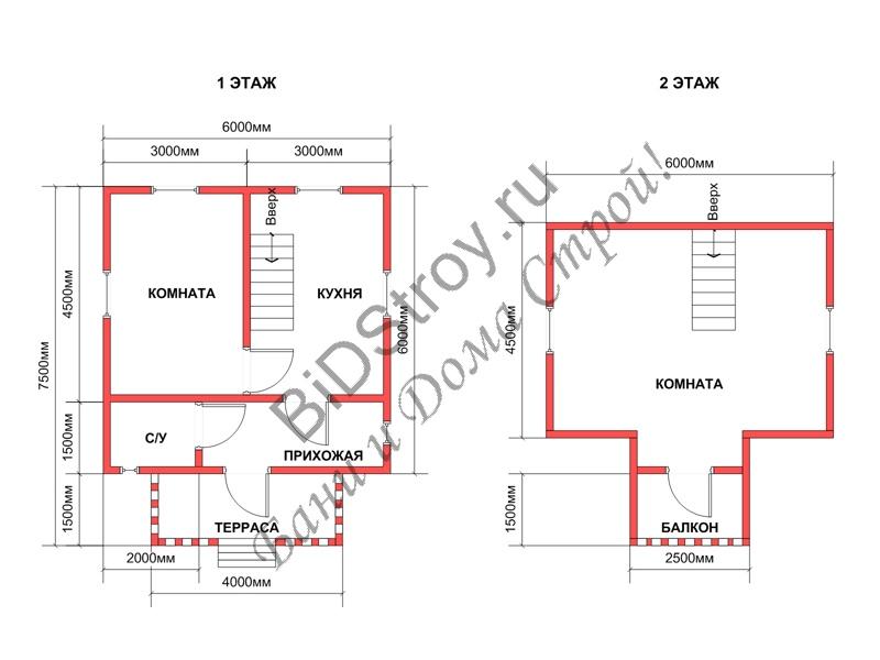 Планировка дома из бруса под ключ
