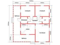 Планировка дома из бруса 10×10