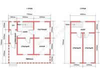 Планировка дома из бруса 7.5 на 7.5