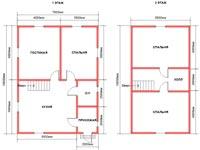 Планировка дома из бруса 7,5 на 10
