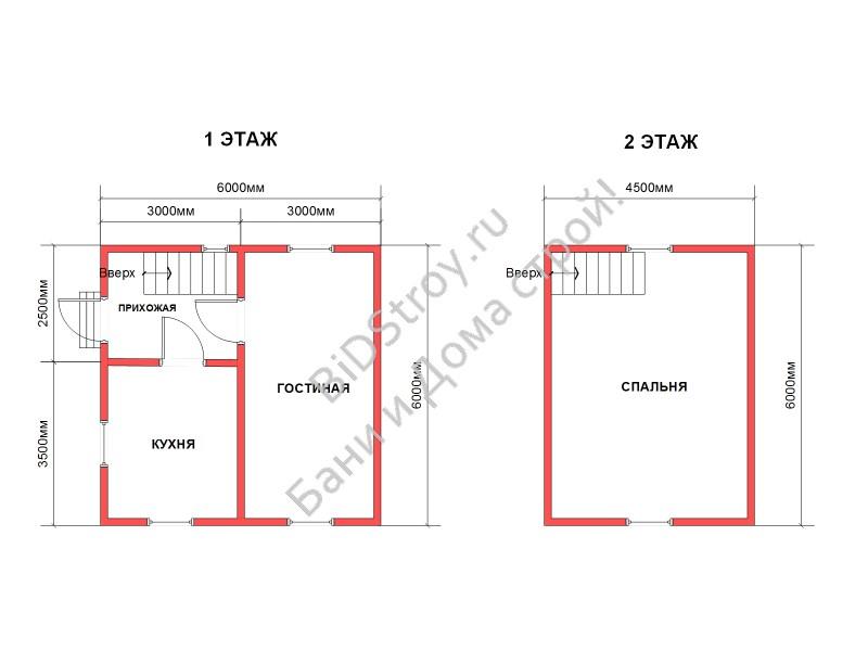 Планировка дачного дома из бруса под ключ