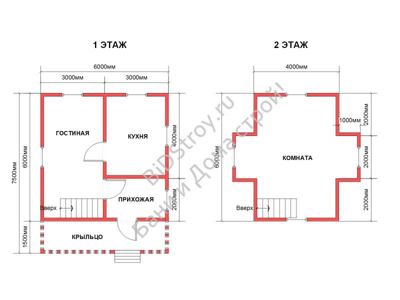 Планировка профилированного дома под ключ