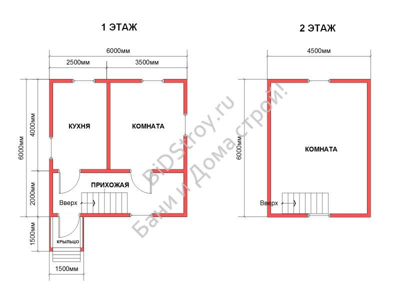Планировка дома из бруса с крыльцом